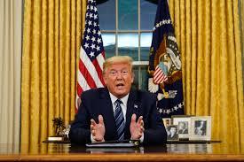 Image result for Trump declares national emergency over coronavirus