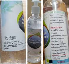 Image result for KNUST-manufactured low-cost sanitizers
