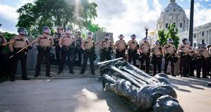 Confederate and Columbus statues toppled by US protesters -