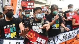 Hong Kong: Dozens held as 'anti-protest' law kicks in on handover  anniversary - BBC News